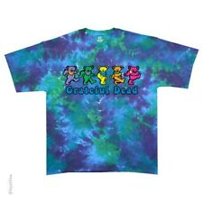 New GRATEFUL DEAD Dancing Bears Tie Dye T Shirt