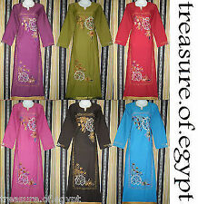 EGYPT ISLAMIC COTTON ORIENT ABAYA JILBAB DRESS KAFTAN HIJAB S M L XL 2XL 3XL 4XL