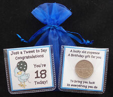 LUCKY SIXPENCE BIRTHDAY KEEPSAKE GIFT 18TH, 21ST, 30TH, 40TH, TEN UNIQUE DESIGNS