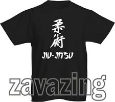 JIU-JITSU LOGO KIDS T-SHIRT MARTIAL ARTS JAPAN BRAZILIAN FIGHT COMBAT GIFT BELT