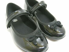 CLARKS GIRLS SCHOOL SHOES IN BLACK PATENT F&G FIT  DANCE TUNE