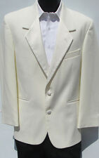 Ivory/Off-White Two Button Tuxedo/Dinner Jacket & Pants Wedding Prom Cruise 39R