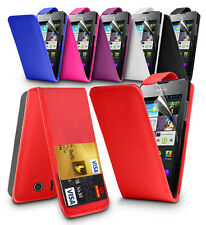 FLIP LEATHER SERIES CASE COVER HUAWEI ASCEND Y300 + SCREEN PROTECTOR