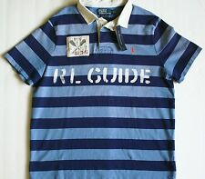 POLO RALPH LAUREN CUSTOM-FIT BLUE STRIPED KAYAK RIVER RUGBY XL XXL NEW NWT $145