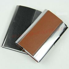 New Metal Leather Business Credit ID Name Card Wallet Case Holder Organizer Box