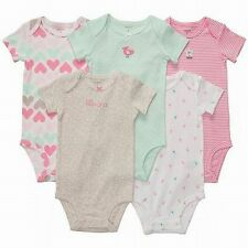 New Carter's 5 Pack Pretty Bird Heart Bodysuits NWT Size NB 3 m6 9m 12m 18m 24m