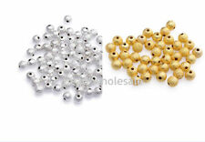 New 100-500pcs Silver&Golden Stardust Copper Ball Spacer Beads 3/4/5/6mm U Pick