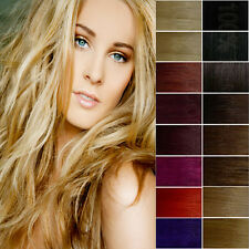 Clip In on 100% Remy Real Straight Human Hair Extensions Full Head 8Pcs 21Colors