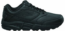 Brooks Addiction Walker Womens Leather Walking Shoes (BLACK) - FREE DELIVERY