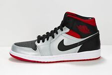NEW MEN'S AIR JORDAN 1 PHAT 364770-021 METALLIC PLATINUM/BLACK-CHILLING RED