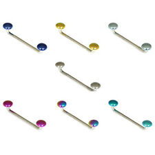 Titanium Surface Disks Piercing 1.6mm Barbell / Bar -- BODY PIERCING JEWELLERY