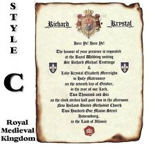 qty 50 Royal Coat of Arms C Scroll Wedding Party Invitations Invites