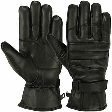 Mens Warm Winter Gloves Dress Gloves Windproof 3m Thinsulate Cowhide Leather BLK
