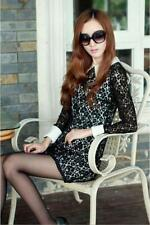 Sexy Women Long Shirt Sleeve Square Collar Ports Lace Mini Dress Cocktail Dress