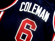 DERRICK COLEMAN #6 TEAM USA JERSEY NEW NAVY BLUE - ALL SIZES