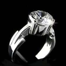 Ladies 3.35ctw SOLITAIRE AAA Grade cz WHITE GOLD EP & RHODIUM EP Ring | NEW
