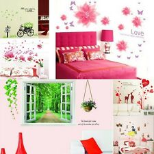 Wall Decal Sticker Kids Nursery Wall paper Home Decor with Tree Flower Birds Cat