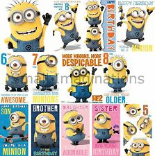 Official Despicable Me 2 Minion Birthday - Minions Greetings Card