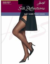 Hanes Silk Reflections  Thigh Highs, Sandalfoot  3-Pack style 720P
