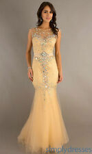 Beading Long Pageant Evening Dress Tulle Sexy Prom Formal Party Gowns hot 2013 A