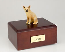 Australian Cattle Dog Pet Funeral Cremation Urn Avail in 3 Diff Colors & 4 Sizes