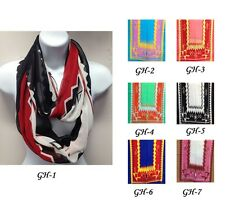 summer stylish three colored with a simple pattern infinity scarf