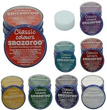 18ml Snazaroo Face Paint Make Up Halloween Witch Zombie Fancy Dress Many Colours