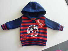 DISNEY Really Cute Mickey Mouse Navy and Red Hoodie NWT