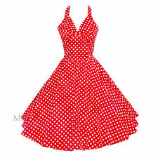 Maggie Tang 50s Polka Dots VTG Retro Rockabilly Pinup Party Swing Dress S-501