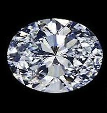 AAAAA Rated Oval Faceted Bright Glacier White Cubic Zirconia (5x3mm-20x15mm)