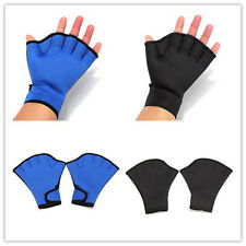 Fingerless Surfing Frog Webbed Gloves Swim Hand AID Paddles Training Swimming