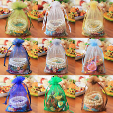 """25/50/75/100/150/200 pcs Organza Bags/Jewelry Gift Pouch 10x16cm 4""""x6"""" 21 Colors"""