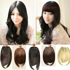 USA women Clip in on Front Hair Bang Fringe Hair Extension hot.girl fond
