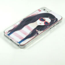 Sweet Girl Clear Bling Diamond Battery Hard Case Cover Skin For Iphone 5 5G 6TH