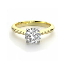 1 Carat Promise Diamond Solitaire Ring 18ct Yellow Gold Fully Hallmarked