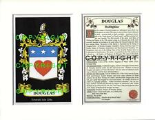 DOUGLAS Family Coat of Arms Crest + History - Available Mounted or Framed