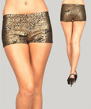 SEXY BLACK GOLD SPARKLY TRASHY CLUB RAVE PARTY HOT PANTS SHORT SHORTS  COSTUME