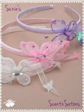 SATIN ALICEBAND BALLET BUTTERFLY HEADBAND PINK WHITE LILAC BRIDESMAID FREEGIFT