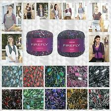 SIRDAR FIREFLY FANCY GLITTER LADDER SCARF YARN - VARIOUS SHADE OPTIONS