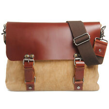 New Good Look Shoulder Bags Linen Cow Leather Messenger Cross Body bags For Men