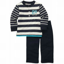 New Carter's 2 Piece Striped Top and Pant Set Size 2T 3T 4T Team Captain