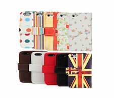 Flip Leather Wallet Credit Card Case Cover for Apple iPhone 5S