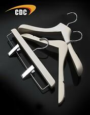White Wash Wooden Coat Hangers, Stylish & Strong Quality Clothes Hangers