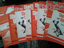 Sheffield United 1960's HOME programmes choose from list FREE UK P&P