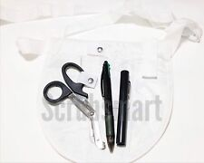 Nurse Apron Pocket organizer kit Includes EMT Bandage Scissors + Penlight + Pen