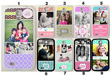 Personalised PHOTO MONOGRAM CASE COVER FOR SAMSUNG GALAXY S8 S7 S6 Custom IMAGE