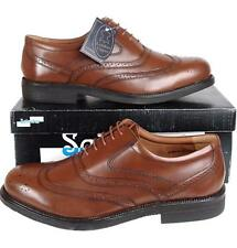 Mens New Brown Leather Brogues UK Size 6 7 8 9 10 11 12 13 14 FREE SHIPPING