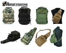 Military 1000D Molle Tactical Utility 3 Ways Shoulder Sling Pouch Bag Black A