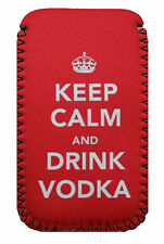 Keep Calm Vodka red PHONE CASE POUCH Fits Samsung Galaxy s2,s3,s3mini,s4& s4mini