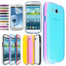 Jelly Ultra-thin Clear Gel Case Cover For Samsung Galaxy S3 Siii i9300 /Film Pen